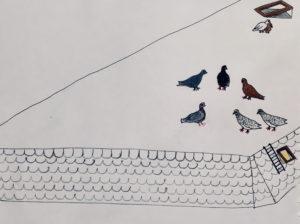 dueflokken på taget
