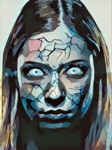 Mor med glasagtige øjne forhekset af Kali