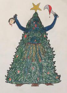 Kali har besat byens juletæ