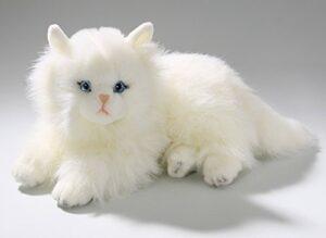 Hvid busket kattebamse